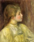 woman s head the thinker by pierre auguste renoir painting