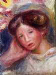 woman s head v by pierre auguste renoir painting