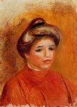 woman s head vii by pierre auguste renoir paintings