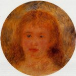 woman s head viii by pierre auguste renoir paintings