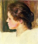woman s head x by pierre auguste renoir paintings