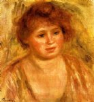 woman s head xi by pierre auguste renoir paintings