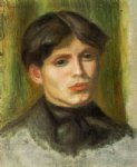 woman s head by pierre auguste renoir paintings