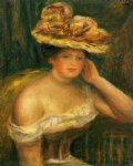 pierre auguste renoir woman wearing a corset painting