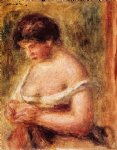 pierre auguste renoir woman with a corset painting