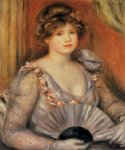pierre auguste renoir woman with a fan ii painting