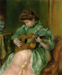 pierre auguste renoir woman with a guitar painting 26672