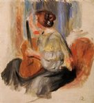 pierre auguste renoir woman with guitar painting 26569