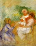 women and child by pierre auguste renoir painting