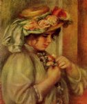pierre auguste renoir young girl in a hat prints