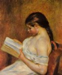 young girl reading v by pierre auguste renoir painting