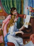 pierre auguste renoir young girls at the piano iii paintings
