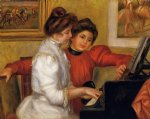 pierre auguste renoir young girls at the piano paintings