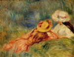 young girls by the water by pierre auguste renoir painting