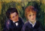 young man and young woman by pierre auguste renoir painting