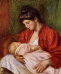 young mother by pierre auguste renoir painting