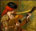 pierre auguste renoir young spanish woman with a guitar posters