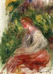 pierre auguste renoir young woman seated painting