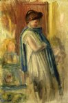 young woman standing by pierre auguste renoir painting