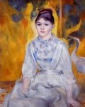 pierre auguste renoir young woman with crane painting