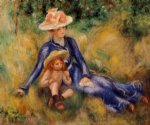yvonne and jean by pierre auguste renoir painting