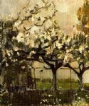 piet mondrian watercolor paintings - alberi by piet mondrian