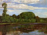 geinrust farm with isolated tree by piet mondrian art