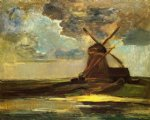 windmill in the gein by piet mondrian art