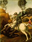 raffaello sanzio raphael original paintings - st. george and the dragon by raffaello sanzio raphael