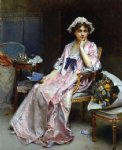 love art - the love letter by raimundo de madrazo y garreta