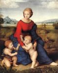 raphael watercolor paintings - madonna of belvedere by raphael