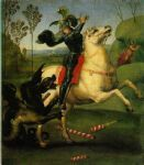 raphael watercolor paintings - saint george and the dragon by raphael