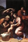 raphael watercolor paintings - the holy family by raphael