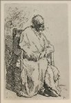 a beggar sitting in an elbow chair by rembrandt van rijn prints