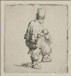 a polander walking towards the right by rembrandt van rijn prints