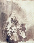 rembrandt van rijn a study for the great jewish bride painting