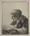 rembrandt van rijn original paintings - a young woman reading by rembrandt van rijn