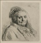 rembrandt van rijn original paintings - bust of an old woman rembrandt s mother by rembrandt van rijn