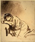 rembrandt van rijn original paintings - hendrickje sleeping by rembrandt van rijn