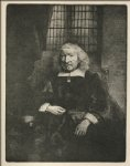 rembrandt van rijn jacob haring portrait known as the old haring painting-25582