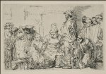 rembrandt van rijn original paintings - jesus disputing with the doctors the smaller print by rembrandt van rijn