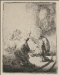rembrandt van rijn jesus disputing with the doctors painting-25597