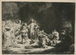 jesus watercolor paintings - jesus healing the sick by rembrandt van rijn
