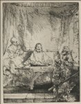 rembrandt van rijn our lord and disciples at emmaus painting