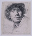 rembrandt van rijn self portrait with a cap openmouthed art