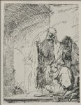rembrandt van rijn st. peter and st. john at the gate of the temple painting