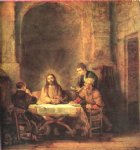 supper at emmaus by rembrandt van rijn oil paintings