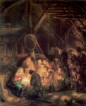 the adoration of the shepards by rembrandt van rijn oil paintings