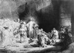 jesus original paintings - the little children being brought to jesus by rembrandt van rijn