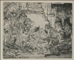 rembrandt van rijn the nativity painting